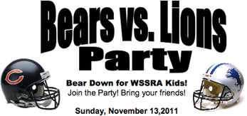 Bears vs. Lions Party